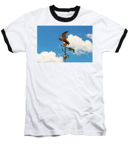 Weather Vane On Blue Sky Baseball T-Shirt