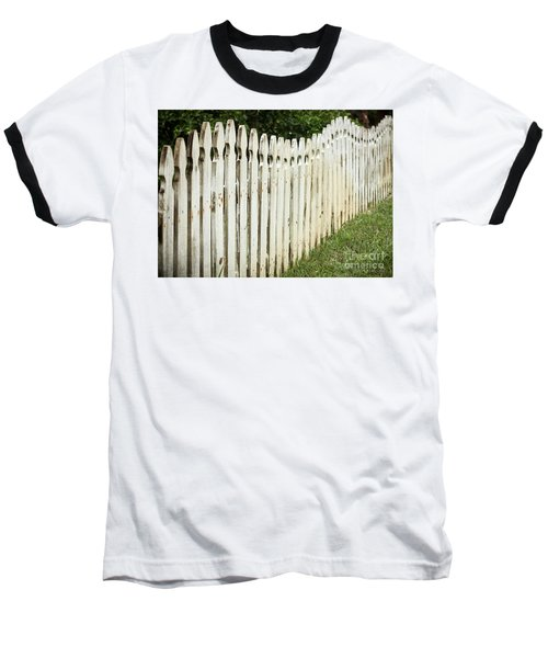 Weathered Fence Baseball T-Shirt