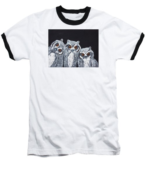 Wee Owls Baseball T-Shirt by Scott Wilmot