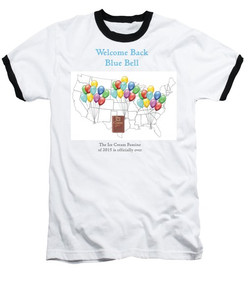 Welcome Back Blue Bell Baseball T-Shirt by Jacquie King