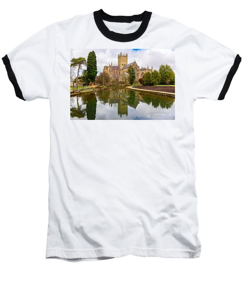 Baseball T-Shirt featuring the photograph Wells Cathedral by Colin Rayner