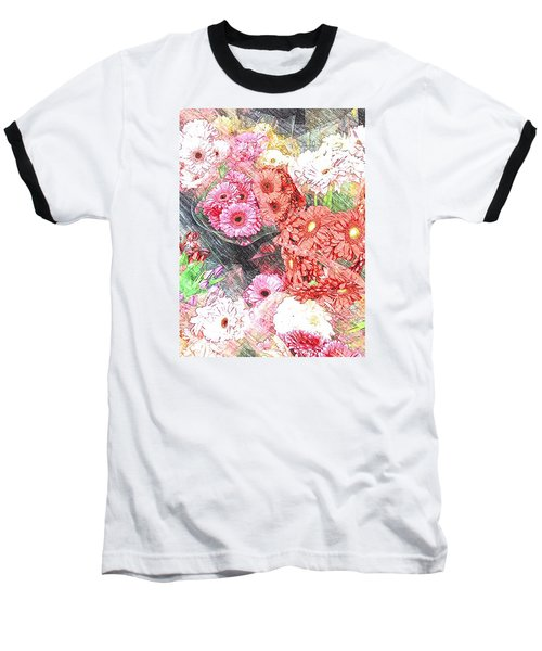 Wendy's Flowers Baseball T-Shirt by Jan Amiss Photography