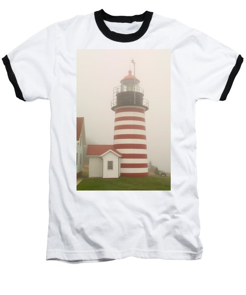 West Quody Head Lighthouse Baseball T-Shirt by Brent L Ander