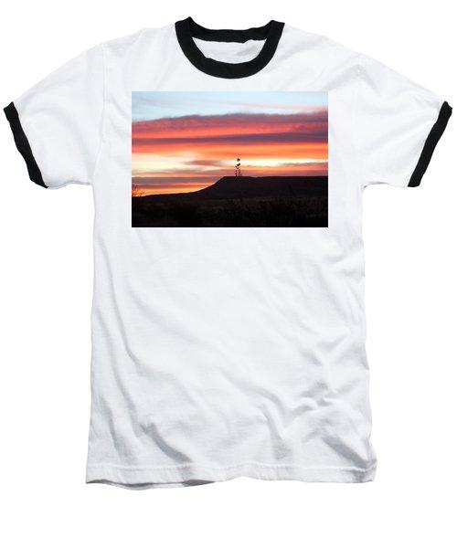 Mile Marker 122 West Texas Sunrise Baseball T-Shirt