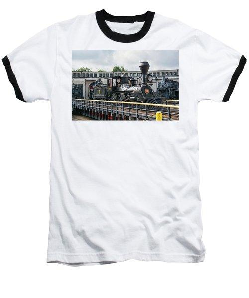 Western And Atlantic 4-4-0 Steam Locomotive Baseball T-Shirt by John Black