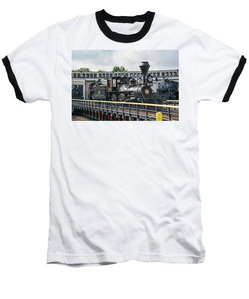 Western And Atlantic 4-4-0 Steam Locomotive Baseball T-Shirt