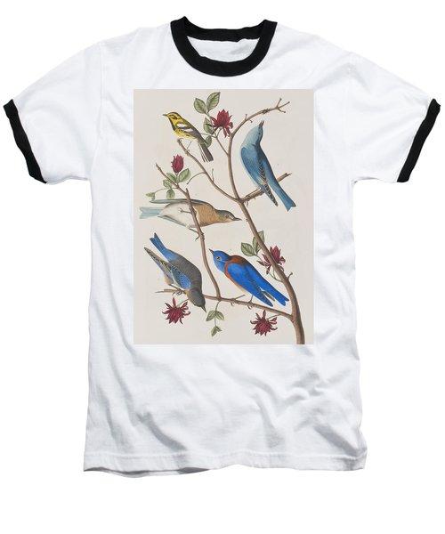 Western Blue-bird Baseball T-Shirt