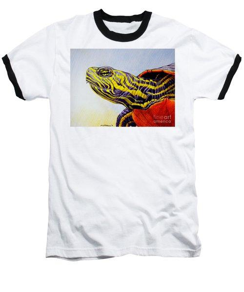 Western Painted Turtle Baseball T-Shirt