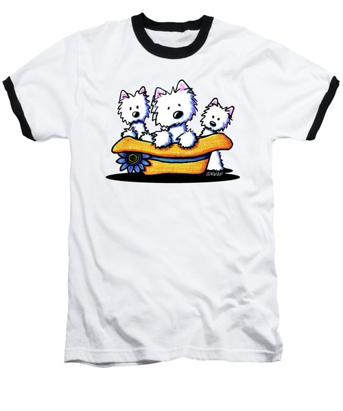 Westie Hat Trio Baseball T-Shirt