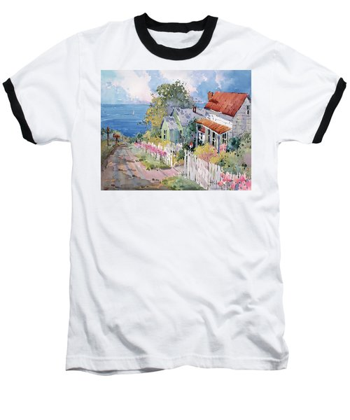 Westport By The Sea Baseball T-Shirt by Joyce Hicks