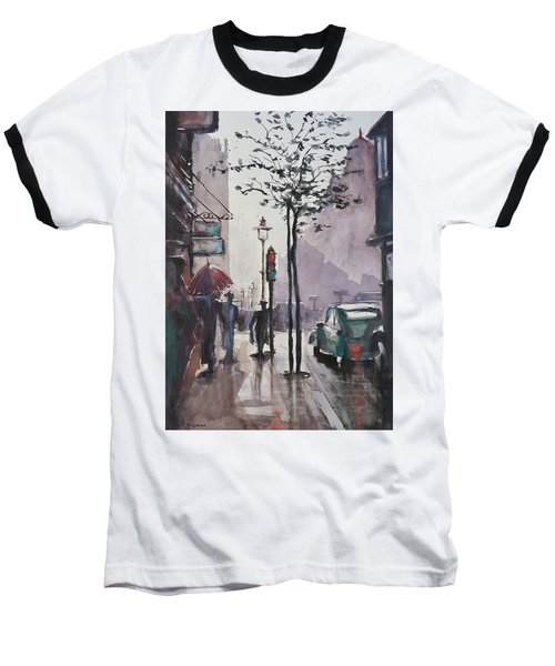 Baseball T-Shirt featuring the painting Wet Afternoon by Geni Gorani
