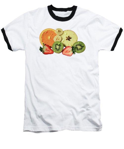 Wet Fruit Baseball T-Shirt by Shane Bechler