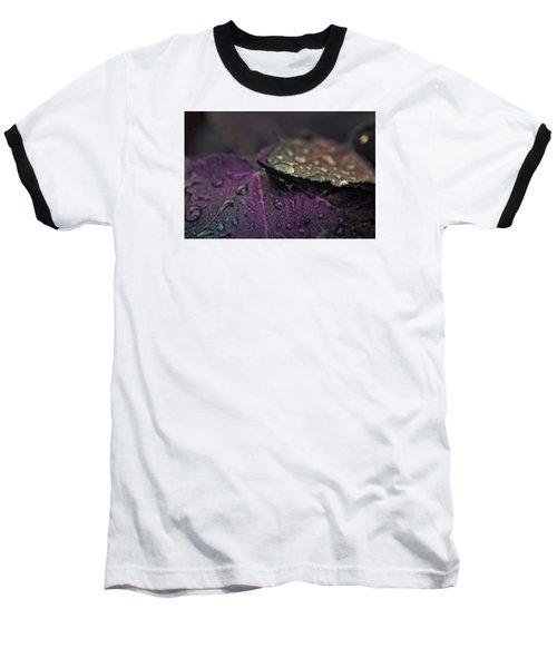 Wet Purple Leaves Baseball T-Shirt