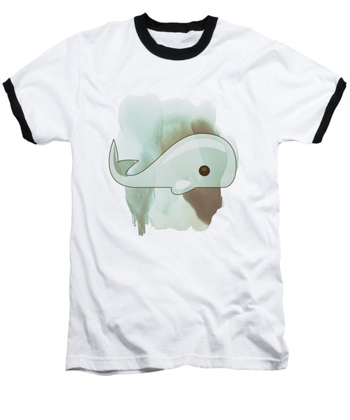 Whale Art - Bright Ocean Life Pastel Color Artwork Baseball T-Shirt