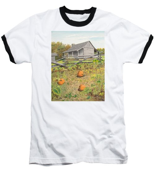 What's Left Of The Old Homestead Baseball T-Shirt by Norm Starks