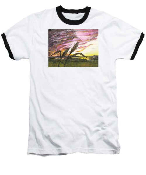 Baseball T-Shirt featuring the painting Wheat Field by Darren Cannell