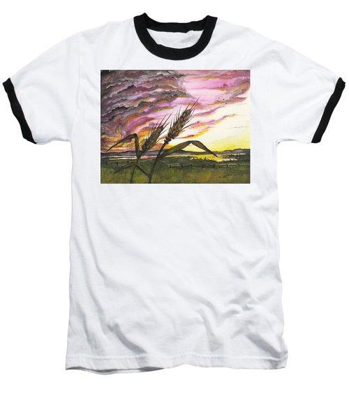 Wheat Field Baseball T-Shirt