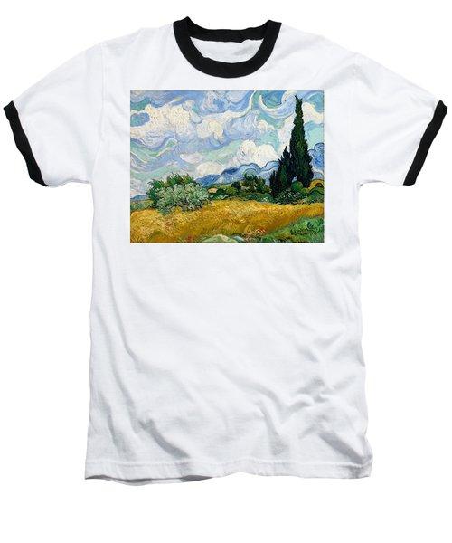 Wheat Field With Cypresses Baseball T-Shirt