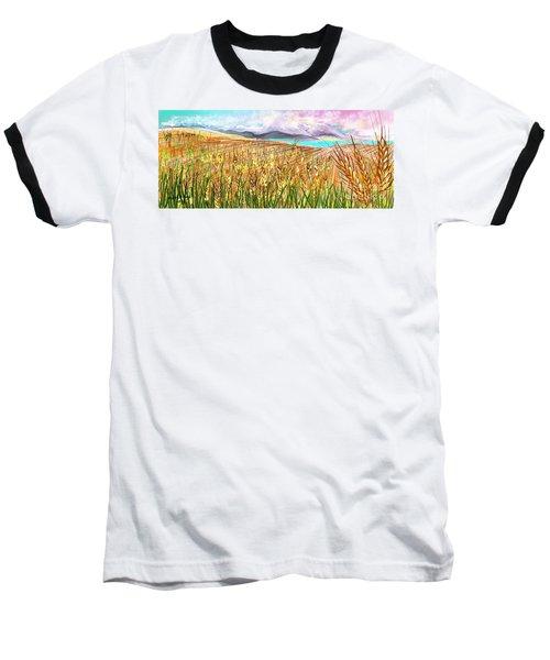 Wheat Landscape Baseball T-Shirt