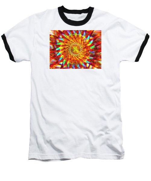 Wheel Of Light Baseball T-Shirt by Andreas Thust