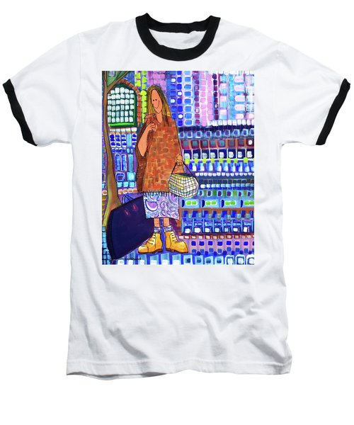 Baseball T-Shirt featuring the painting When I Was Cool by Donna Howard