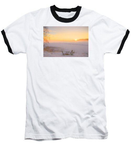 Baseball T-Shirt featuring the painting When Joy Fills The Heart by Rose-Maries Pictures