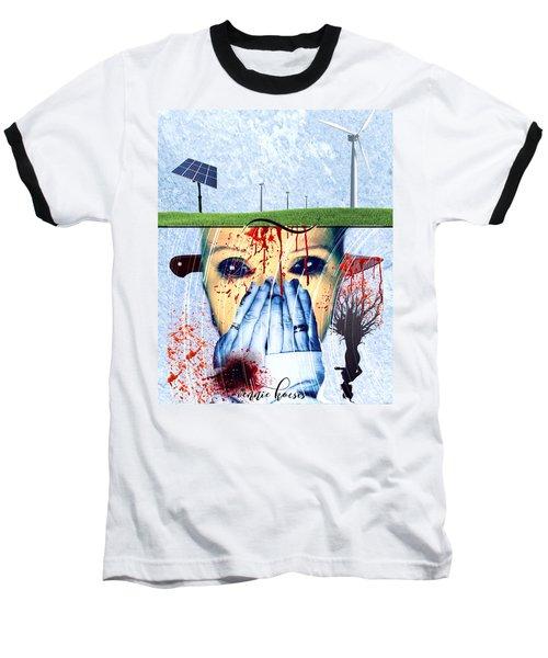 When They Take The Mind Baseball T-Shirt by Vennie Kocsis