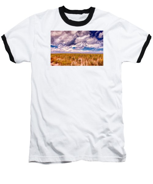 Where Land Meets Sky Baseball T-Shirt by Gary Slawsky