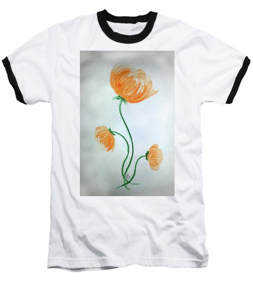 Whimsical Flowers Baseball T-Shirt