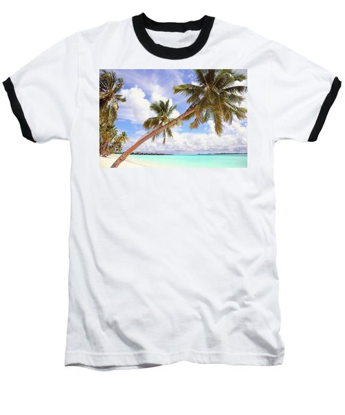 Whispering Palms. Maldives Baseball T-Shirt by Jenny Rainbow