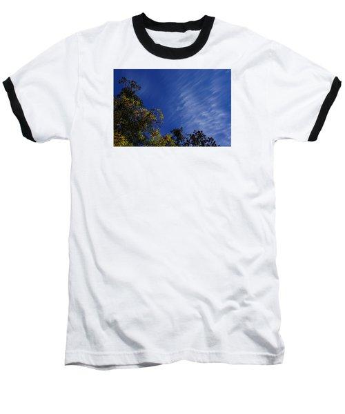 Whispy Clouds Baseball T-Shirt by Adria Trail