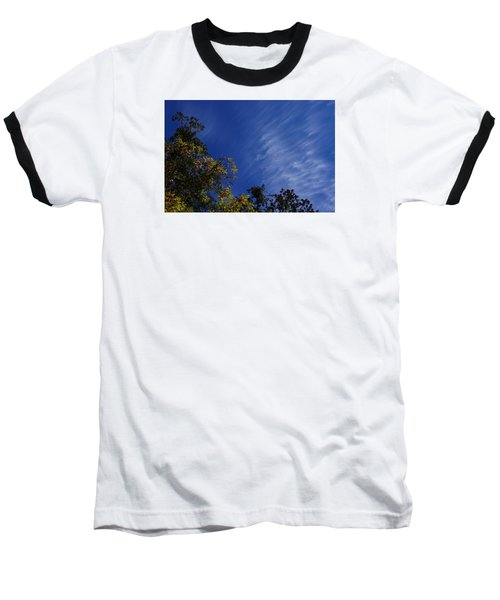 Whispy Clouds Baseball T-Shirt