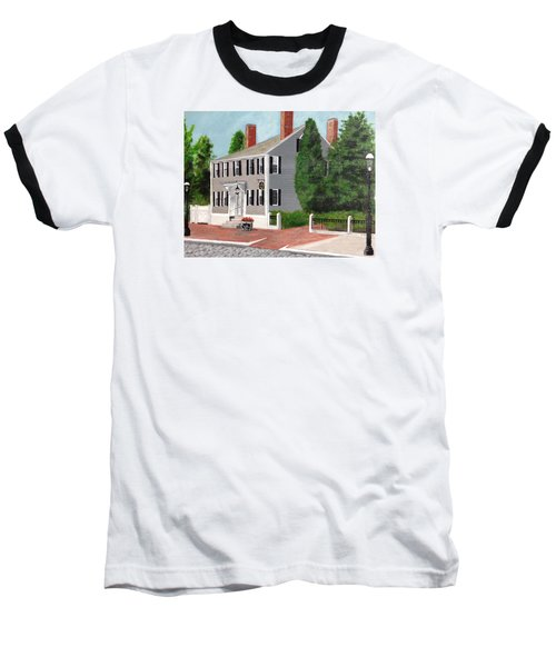 Baseball T-Shirt featuring the painting Whistler House by Cynthia Morgan