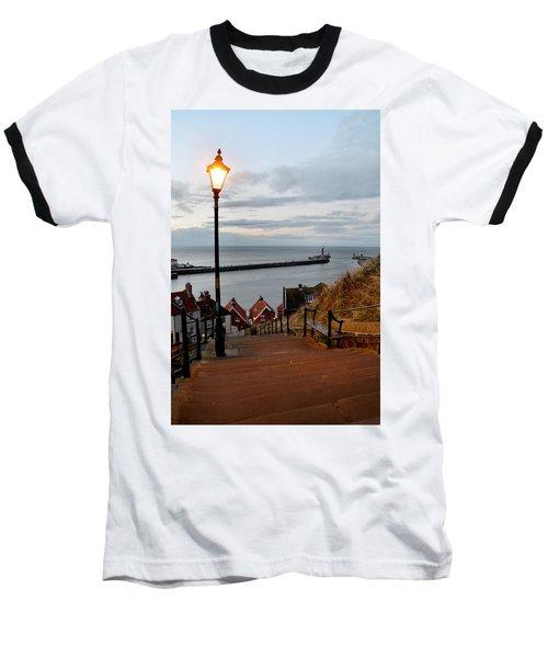 Whitby Steps Blue Hour Baseball T-Shirt