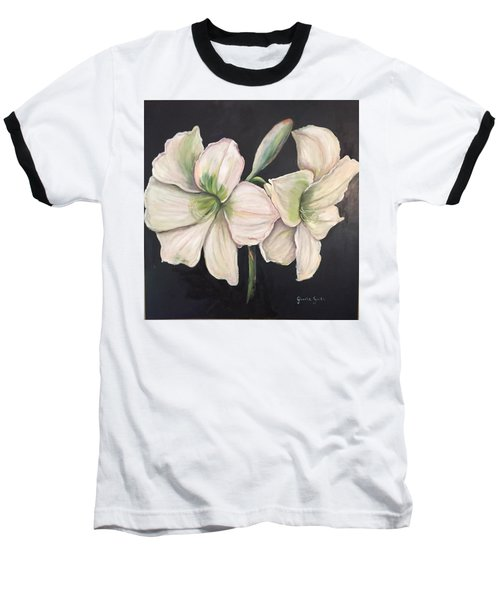 White Amaryllis  Baseball T-Shirt