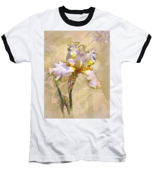 White And Yellow Iris Baseball T-Shirt