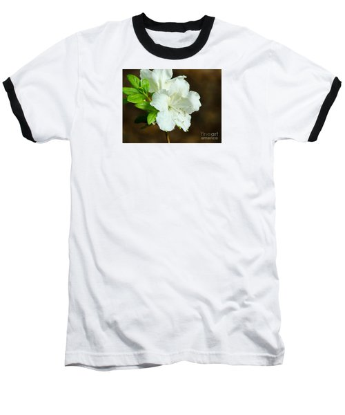White Azalea  Baseball T-Shirt by Rand Herron