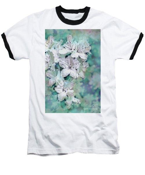 White Azaleas Baseball T-Shirt by Sandy Moulder