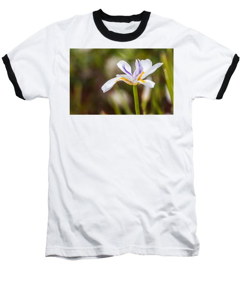 White Beardless Iris Baseball T-Shirt