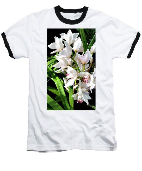 White Elegance Baseball T-Shirt