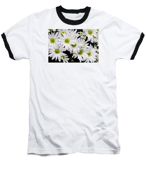White Chrysanthemums Baseball T-Shirt