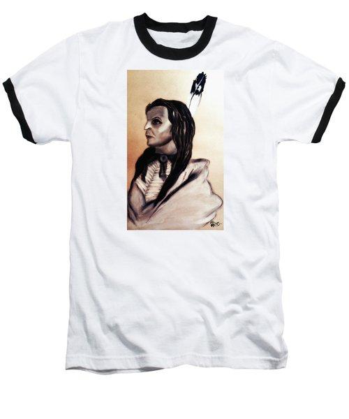 White Cloud.sicangu.1880 Baseball T-Shirt by Ayasha Loya