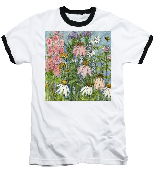White Coneflowers In Garden Baseball T-Shirt