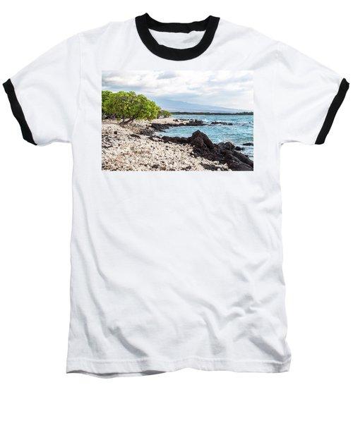 White Coral Coast Baseball T-Shirt