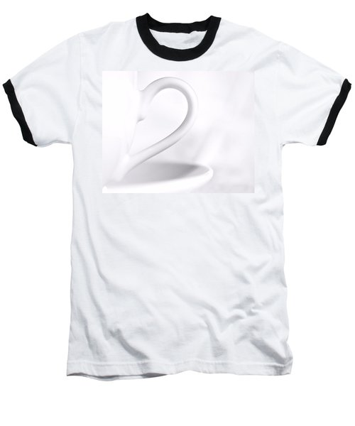 White Cup And Saucer Baseball T-Shirt by Josephine Buschman