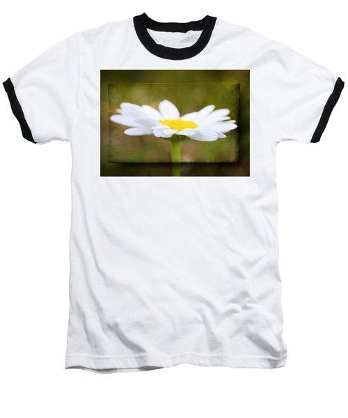 Baseball T-Shirt featuring the photograph White Daisy by Eduard Moldoveanu