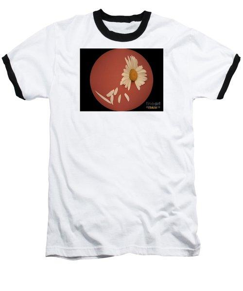 Encapsulated Daisy With Dropping Petals Baseball T-Shirt