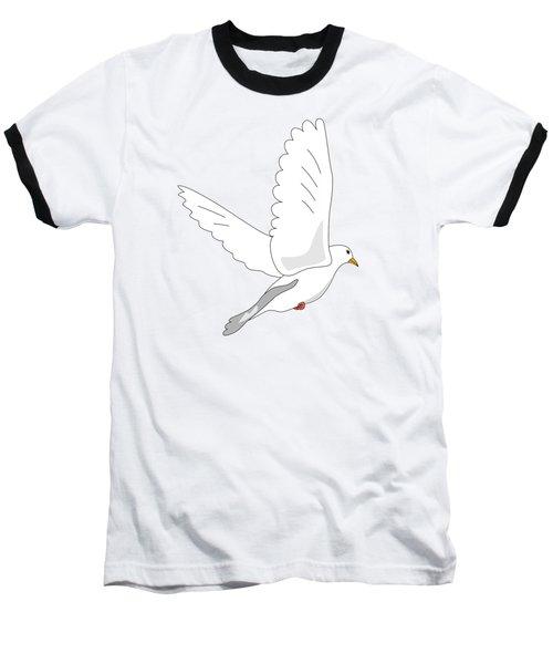 White Dove Baseball T-Shirt by Miroslav Nemecek