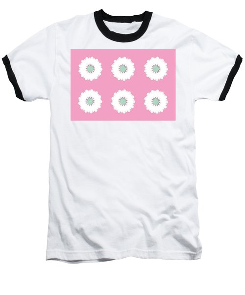 Baseball T-Shirt featuring the digital art White Flowers by Elizabeth Lock