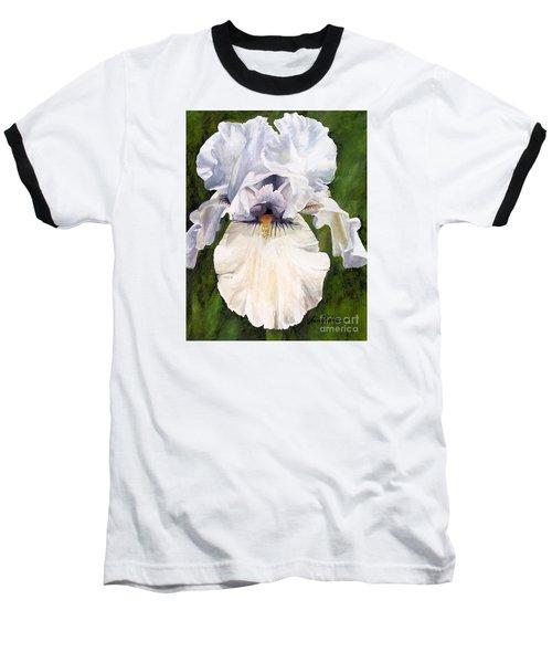 White Iris Baseball T-Shirt